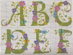 flowers and butterflies alphabet
