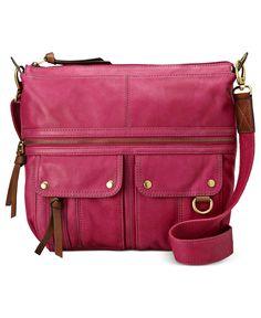 Fossil Handbags, Morgan Top Zip Crossbody - Fossil - Handbags & Accessories - Macy's