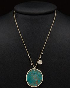 Meira T 14K Two-Tone & Silver 47.73 ct. tw. Diamond & Turquoise Doublet Necklace