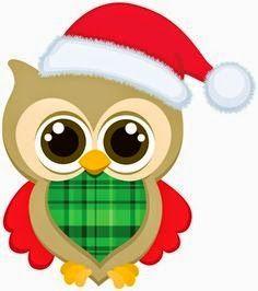 SGBlogosfera. María José Argüeso: BÚHOS NAVIDEÑOS Christmas Rock, Christmas Owls, Christmas Clipart, Christmas Printables, Christmas Pictures, Christmas Crafts, Christmas 2017, Merry Christmas, Owl Clip Art