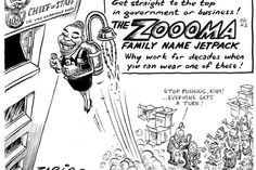 ZAPIRO - The Zooma Family Name Jetpack. If your name is Zuma, you can Zoooom straight to the top! Latest Cartoons, Jacob Zuma, Political Satire, Saga, Names, My Love, Politics, Minions, South Africa