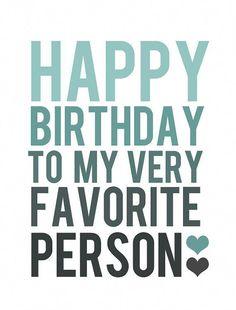 HAPPY BIRTHDAY CARD  Blue and Grey Typography by BubbyAndBean #TeenGirlbedroomDecoratingIdeas