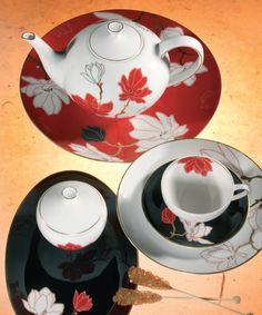 Magnólias na hora do chá.