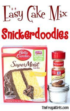 Snickerdoodle Cake Mix Cookie Recipe! ~ from TheFrugalGirls.com ~ these Easy Cake Mix Cookies can be made in a snap and are SO delicious! #recipes #thefrugalgirls