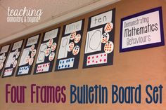 I love this awesome kindergarten bulletin board set. Great for Ontario FDK teachers looking to organize their classroom and show off their students learning. Kindergarten Classroom Organization, Kindergarten Bulletin Boards, Full Day Kindergarten, Number Sense Kindergarten, Kindergarten Assessment, Kindergarten Curriculum, Classroom Ideas, Classroom Routines, Classroom Displays