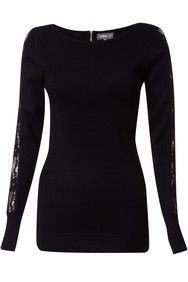 Apricot Black Back Zip Jumper http://www.apricotonline.co.uk/mall/productpage.cfm/womensclothing/_5051839143388/461702/Black-Back-Zip-Jumper
