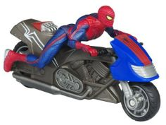 The Amazing Spider-Man Zoom N Go Spider Cycle Vehicle by Hasbro. $12.55. From the Manufacturer                Bad guys can run, but they can't hide when Spider man zips into action on his fast-moving Spider Cycle.                                    Product Description                Spider Man Zoom N' Go Pull Back Vehicles - SPIDER MOTORCYCLEBad guys can run, but they can't hide when Spider man zips into action on his fast-moving Spider Cycle.Bad guys can run, ...