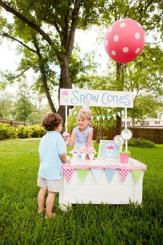 Snow cone stand! #summerparty