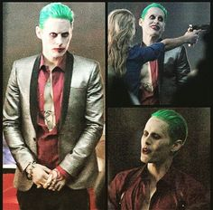 "Jared Leto As the Joker on Set of ""Suicide Squad"""