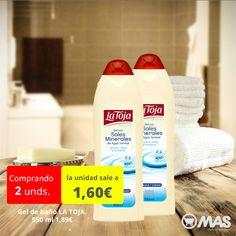 Hasta el 30 de octubre, oferta en gel de baño LA TOJA! #ducha #productos