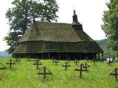 This church is found on a small hill in the village of Topoľa in the north-east corner of Slovakia at the edge of Poloniny National Park. Bratislava, Ukraine, Carpathian Mountains, Gazebo, Folk, National Parks, Outdoor Structures, Architecture, Finland