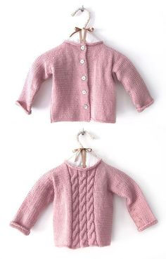 Cómo hacer un Jersey de bebé a dos agujas - DIY 62dfb78886c