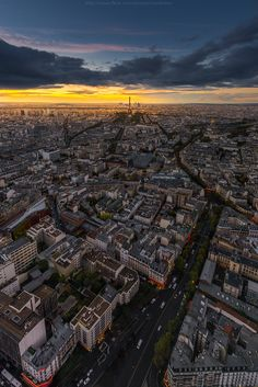 Paris from Montparnasse Tower   France (by CoolbieRe)