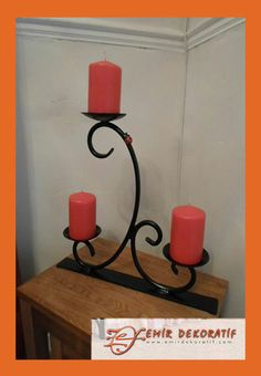 Ferforje üçlü mumluk Hanging Candles, Candle Chandelier, Candle Wall Sconces, Pillar Candles, Floor Candle Holders, Wrought Iron Candle Holders, Candle Stand, Candlestick Holders, Steel Bed Design