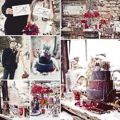 Decoración de Navidad para tu boda #boda #decoración
