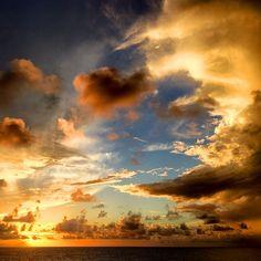 Sunset on Atlantic Ocean, Brazil