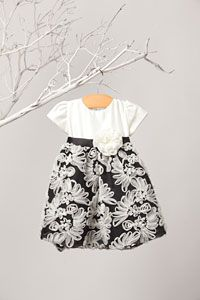 Girls Dress Style B446- Fan Embroidered Mesh and Satin Dress