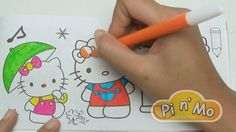 Pi n' Mo: Coloring Pages For Kids With Hello Kitty Coloring Book #Page 3