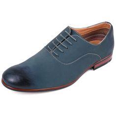 Men s Oxfords Lace up Shoes Faux Nubuk Casual Dress by Ferro Aldo  Distressed Toe  FerroAldo 14df1a6e372
