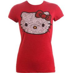 Hello Kitty Shirts for Teens | shop clothing tops t shirts hello kitty word tee teen clothing by wet ...