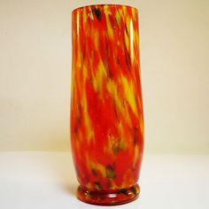 Glas Vase • Art Deco • wohl Kralik • bunte Einschmelzungen