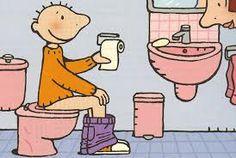 Jules op toilet