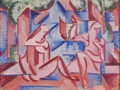 vaclav-spala-dve-zeny-u-vody Sophistica Gallery Fauvism, Still Life, Modern Art, Scene, Graphic Design, Landscape, Gallery, Illustration, Artist