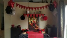 My daughters decor for her deadpool party
