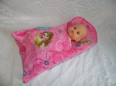 Disney Princess Print Swaddler for Dolls and by thatssewholly