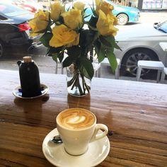 First really good coffee in days @maillardtoastbar North Fitzroy @visitmelbourne #flatwhite #roses #coffeeculture #gottacomeback #restaurantaustralia