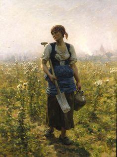 Jules Breton, Morning, 1888