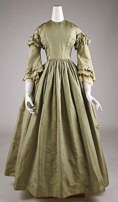 Dress Date: ca. 1850 Culture: American or European Medium: silk Accession Number: C.I.63.19.1