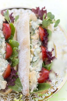 Scrambled Egg & Tuna Salad Sandwich スクランブルドエッグとツナサラダのサンドウィッチ