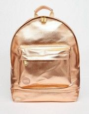 Mi-Pac Metallic Backpack in Rose Gold