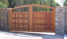 Los Angeles Wood Driveway Gates & Beautiful Entry Gates