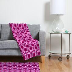 Caroline Okun Radiant Fleece Throw Blanket   DENY Designs Home Accessories