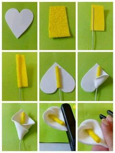Calla Feltro: - Diy for Home Decor Awesome awesome diy home decor teen crafts beauty projects oragnization clothes art eas awesome beauty clothes crafts decor oragnization projects Felt Calla: Source by Calas … Plus This looks like funky foam but would Paper Flowers Diy, Felt Flowers, Handmade Flowers, Flower Crafts, Diy Paper, Fabric Flowers, Paper Crafting, Fondant Flowers, Origami Flowers