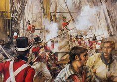 Royal Marines during the Battle of Trafalgar, 21st October 1805