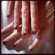 Prabal Gurung blood #nails. #nailart #Halloween