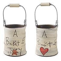 Buckets...to hold fresh flowers, love notes or special somethings