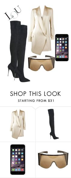 """""""Untitled #352"""" by suda-a ❤ liked on Polyvore featuring Haute Hippie, Le Silla and Rick Owens"""