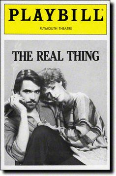"Tom Stoppard's ""The Real Thing"" opened at the Plymouth Theatre in 1983, starring Jeremy Irons and Glenn Close.  Nominated for seven Tony awards, won five, including Best Play."