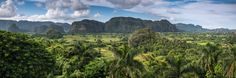 Panoramic view in Vinales Valley , Cuba