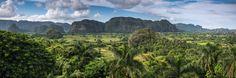 Panoramic view in Vinales Valley , Cuba