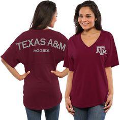 Texas A M Aggies Women s Spirit Jersey Oversized T-Shirt - Maroon. Arizona  WildcatsMichigan State SpartansFlorida ... 2f5d3445c