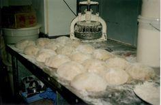 Hot cross bun dough, Adamson's Cake Kitchen, Invercargill NZ 1980's. Family History, Bakery, Hot, Kitchen, Cooking, Bakery Shops, Home Kitchens, Kitchens, Genealogy