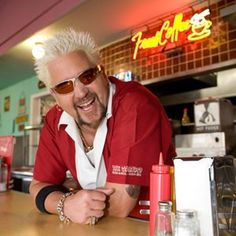 Food Network's Diners, Drive-Ins and Dives is a certifiable juggernaut. Helmed by Guy Fieri, who rode the success of winning the second season of The Next Food Network Star to become the. Think Food, I Love Food, Food For Thought, Dove Recipes, Great Recipes, Favorite Recipes, Drive In, Food Network Recipes, Cooking Recipes