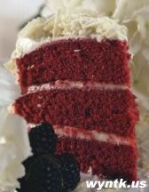 This is the old fashion (original) way to make Red Velvet Cake. Crisco in the frosting. Delish!