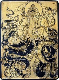 Ganesha and me tentacled relative.