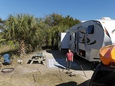 Matthew and Nancy's North American Tour Edisto Beach Sc, Edisto Island, Charleston South Carolina, Camping Places, I Love The Beach, The Rest Of Us, British Columbia, Us Travel, Campers